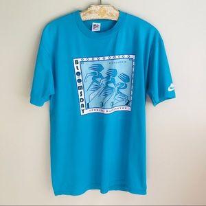 Vintage 90s Race T-shirt Men's Size L Teal Blue
